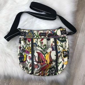 Sakroots Bird Print Crossbody Bag